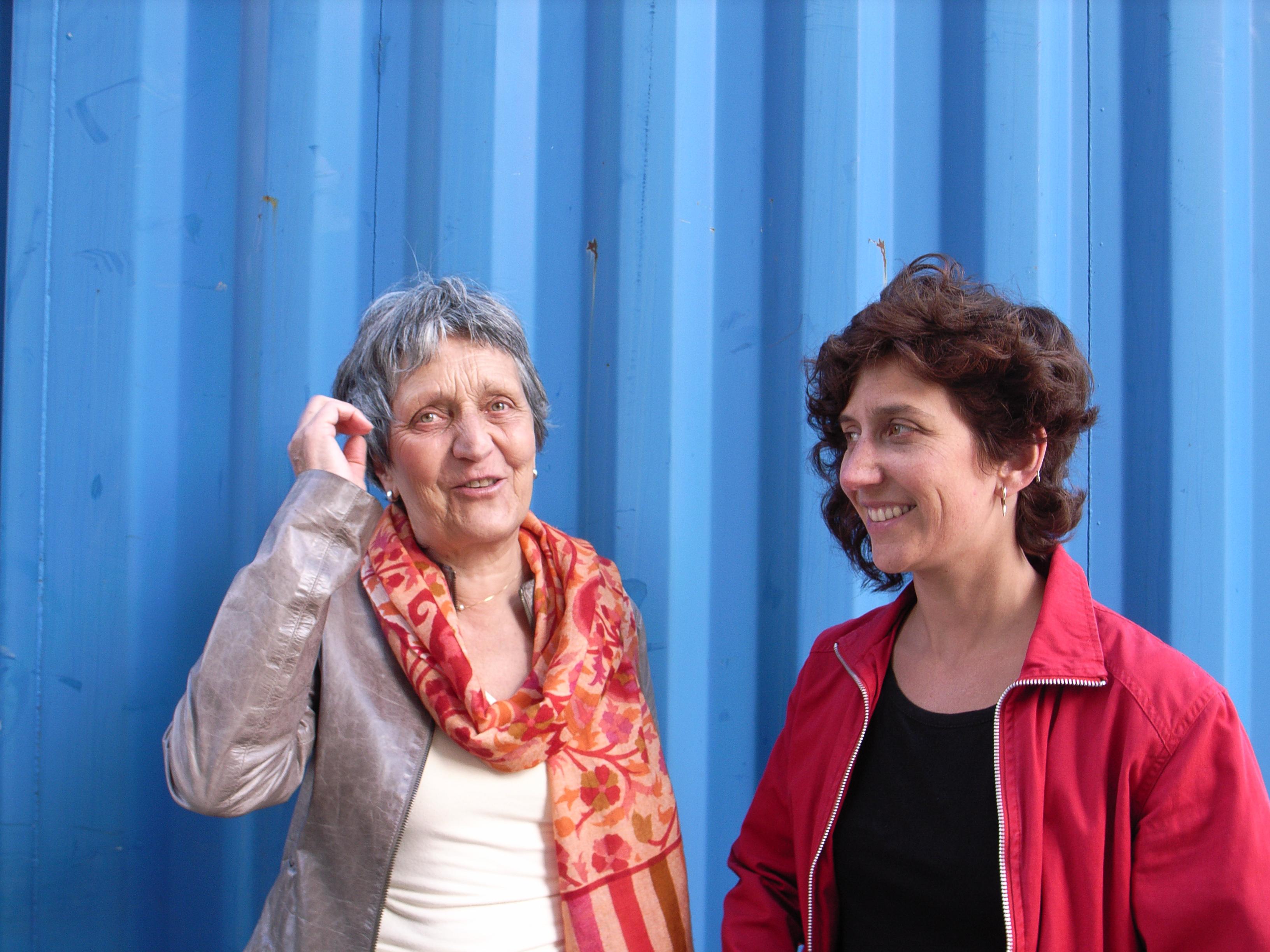 Catherine Froidevaux: initiatrice du projet Jeux Coopératifs et formatrice et Carole-lyne Klay :project manager, formatrice, animatrice, chargée de communication, community manager, webmaster  Jeux Coopératifs