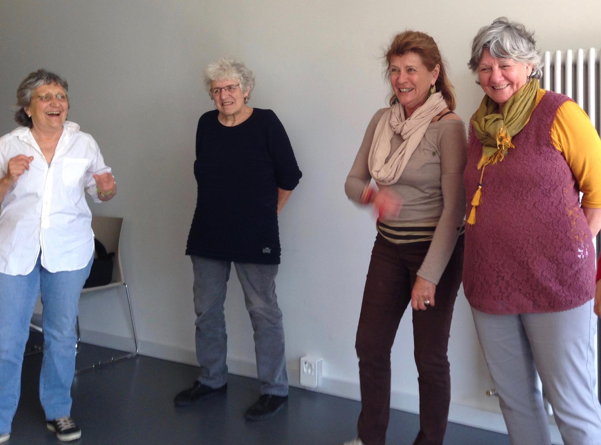 Formation jeux coopératifs et «Tu m'as vu?» donnée par Catherine Froidevaux et Carole-lyne Klay
