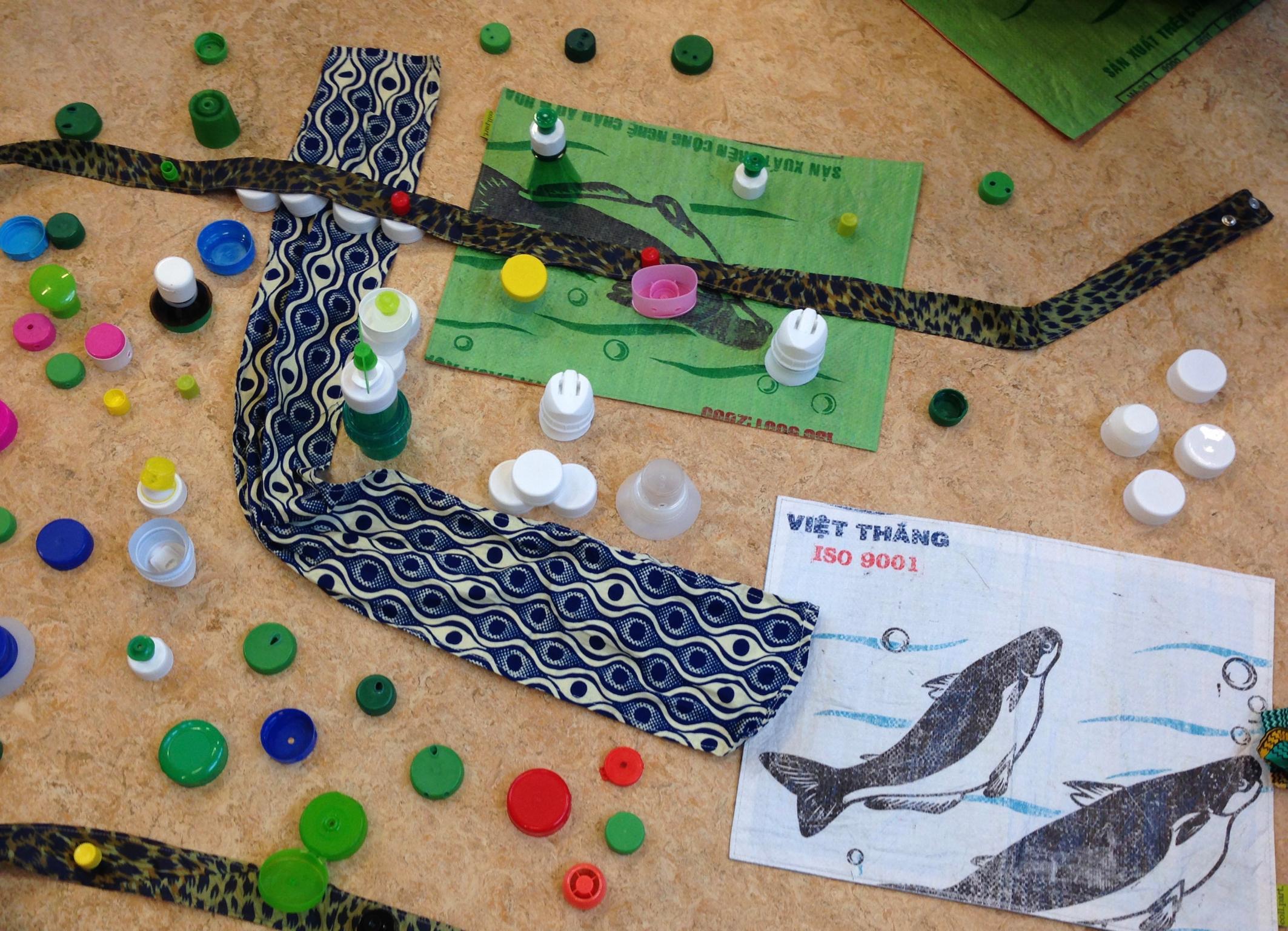 Matériel recyclé pour nos jeux coopératifs