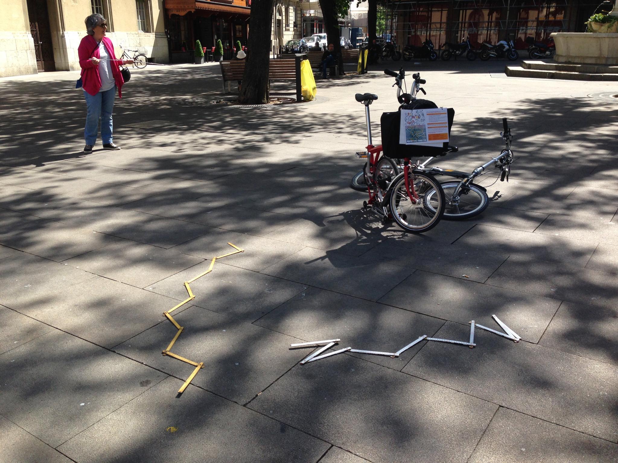 Repérage défi coopératif  «Tu m'as vu?» à vélo Catherine Froidevaux à l'initiative du projetpilote      Carole-lyne Klay